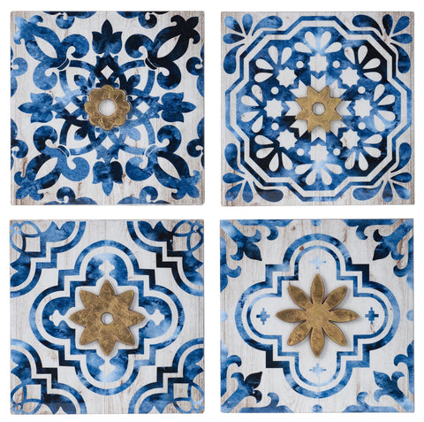 SET/4 TILED WALL ART SET Philbee Interiors