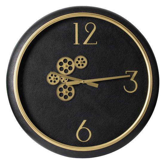 BLACK AND GOLD CLOCK Philbee Interiors