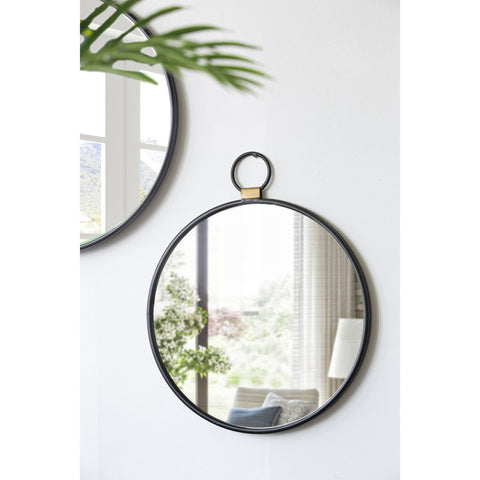 ROUND PENDANT WALL MIRROR Philbee Interiors