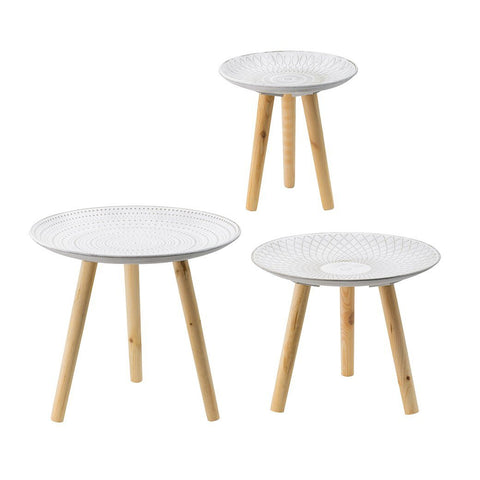 BOHO SIDE TABLE SET OF THREE Philbee Interiors