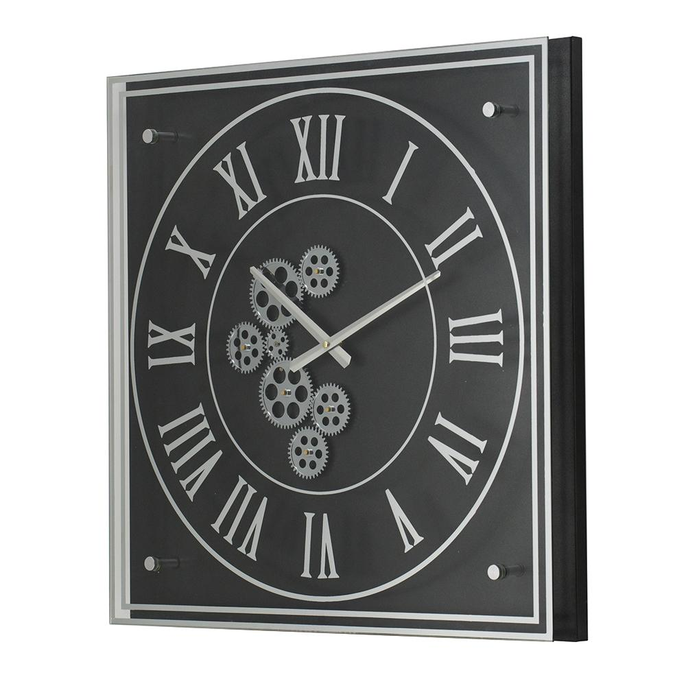BLACK AND SILVER WALL CLOCK Philbee Interiors