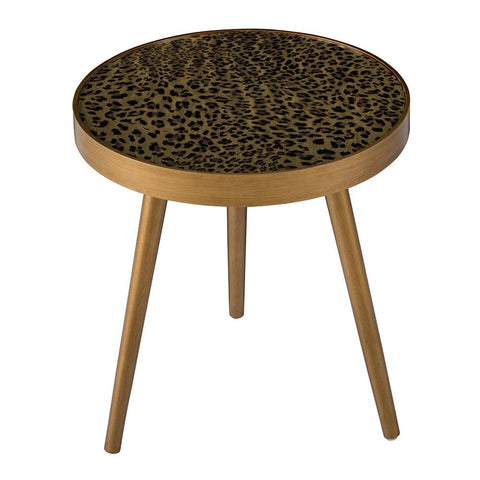 LEOPARD PRINT SIDE TABLE Philbee Interiors