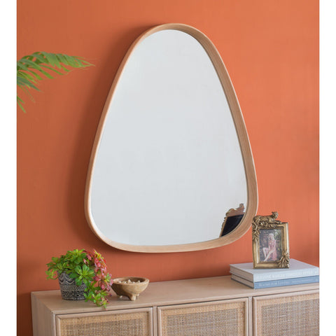 OAK WOOD CONE FRAME MIRROR Philbee Interiors