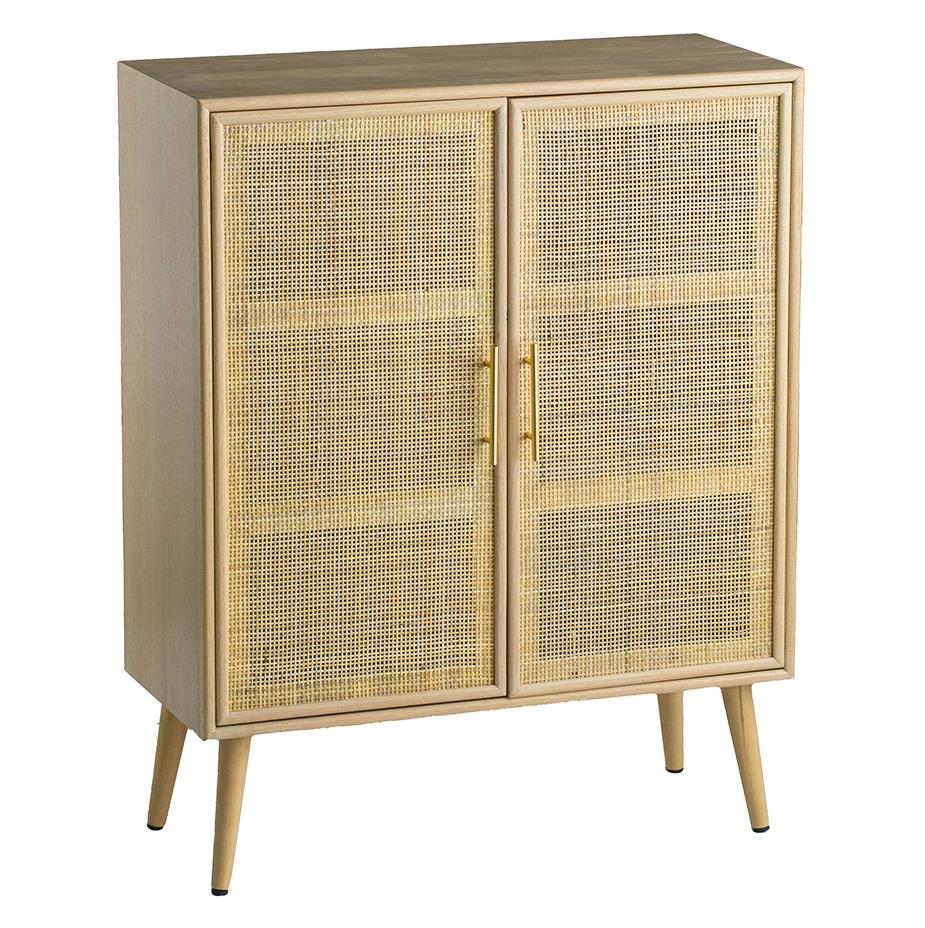 TWO DOOR RATTAN CABINET Philbee Interiors
