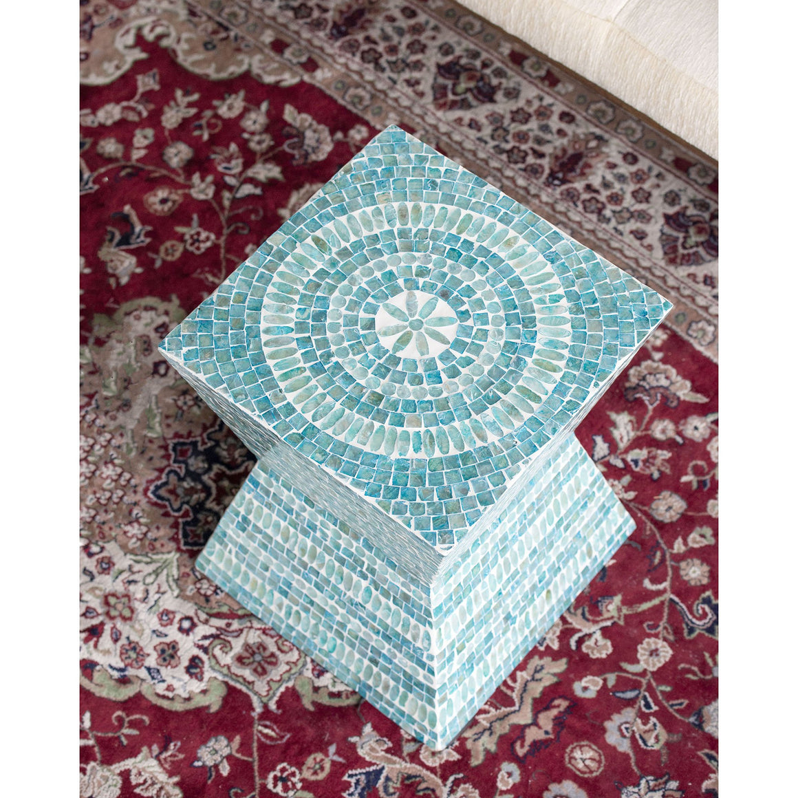 MOROCCO SHELL STOOL/SIDE TABLE Philbee Interiors