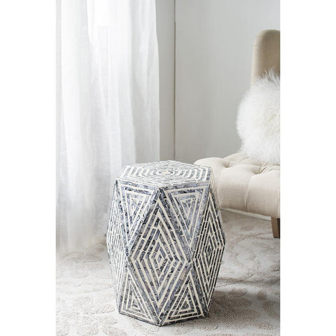 Oblique Shell stool/Side table Philbee Interiors