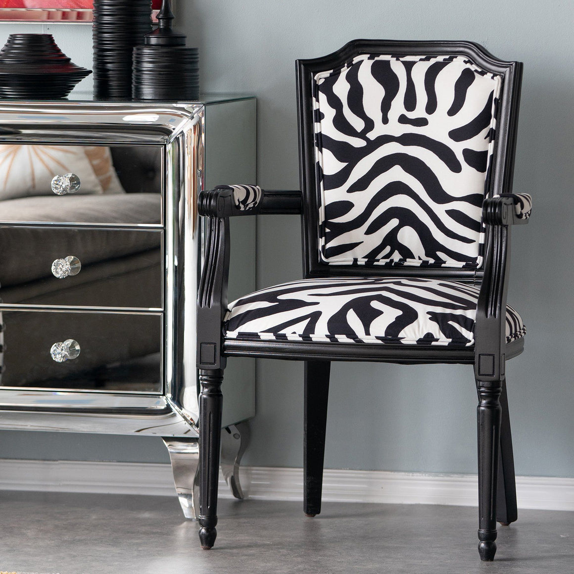 REGAL ZEBRA ARM CHAIR Philbee Interiors