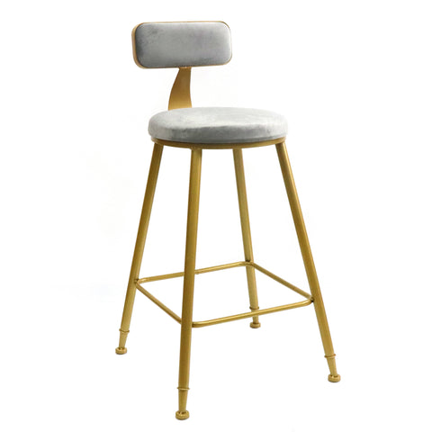 SLEEK BELL KITCHEN BENCH HEIGHT STOOL GREY Philbee Interiors