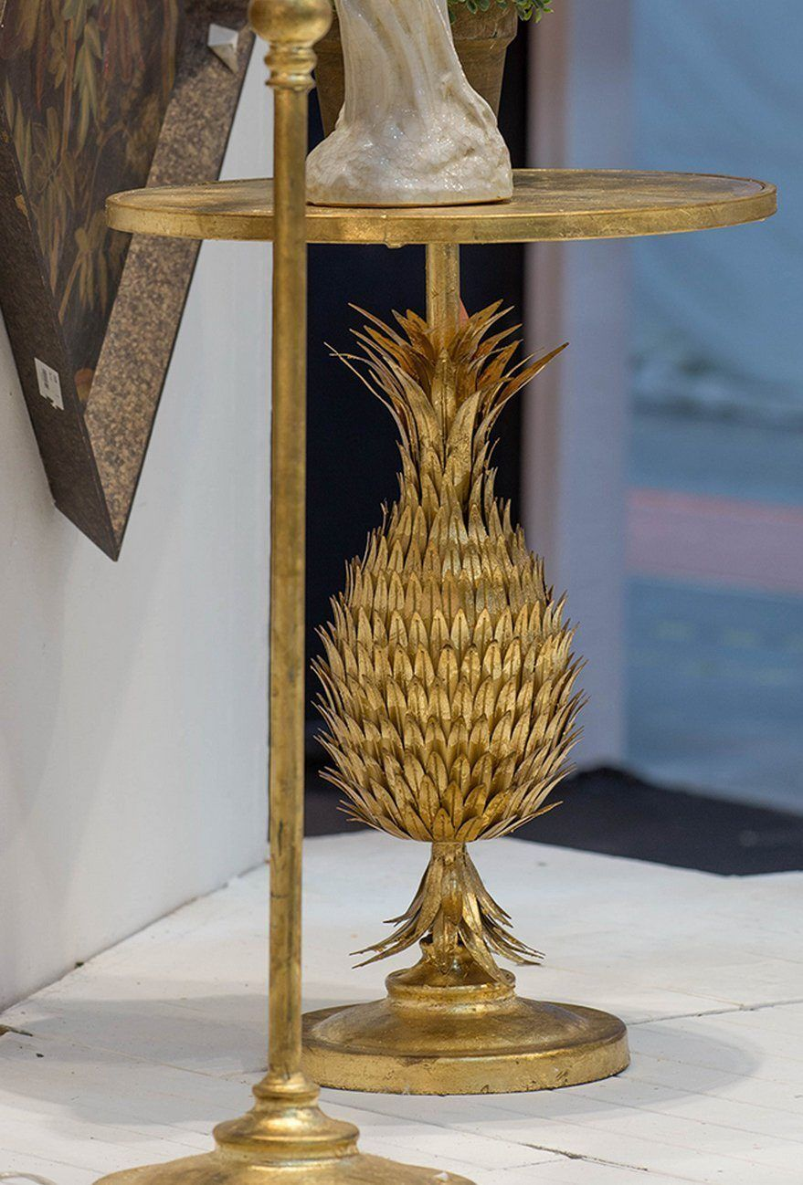 GOLD PINEAPPLE SIDE TABLE Philbee Interiors