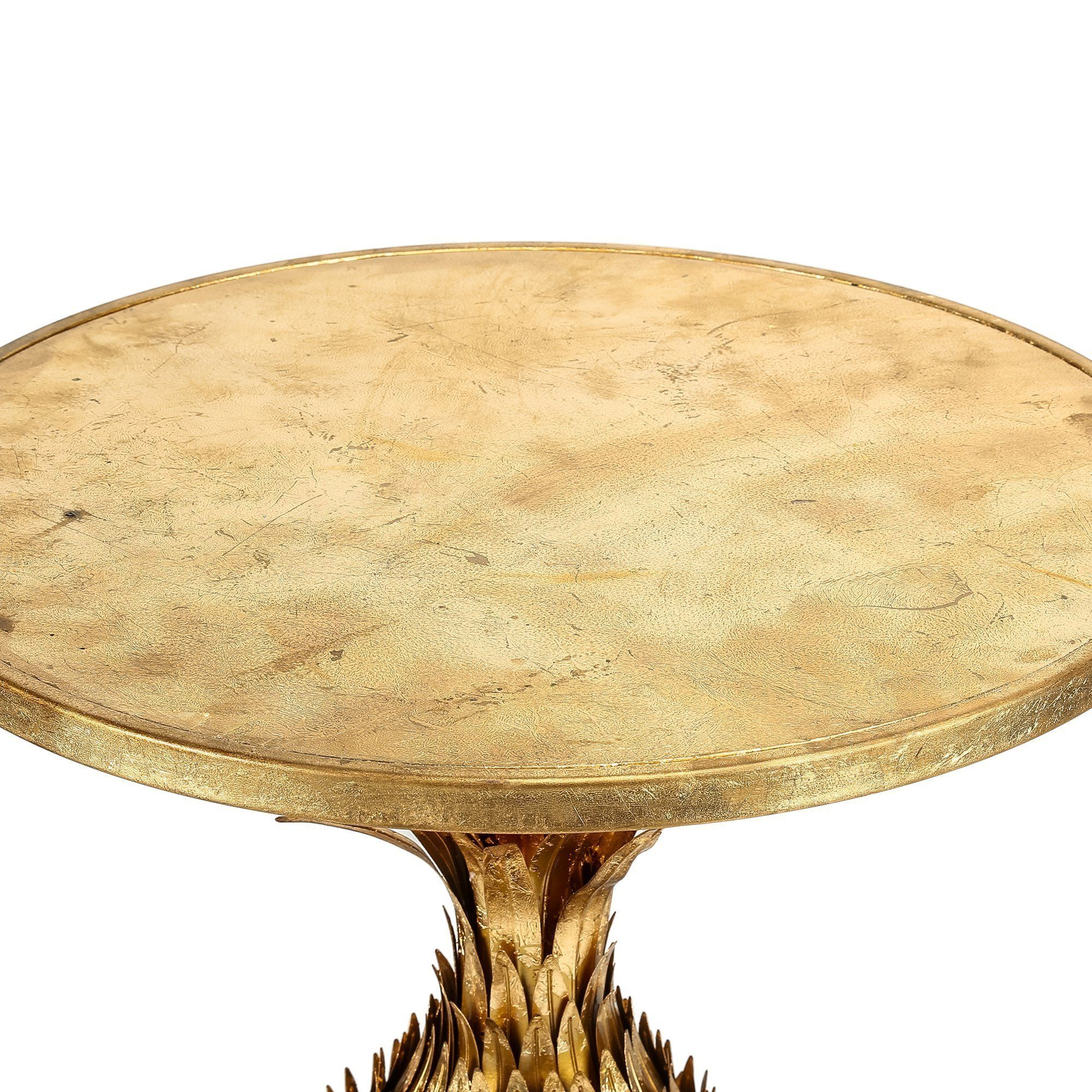 size 40 5abe5 e2f72 SET/2 WEAVED METAL GOLD STOOL/SIDE TABLES