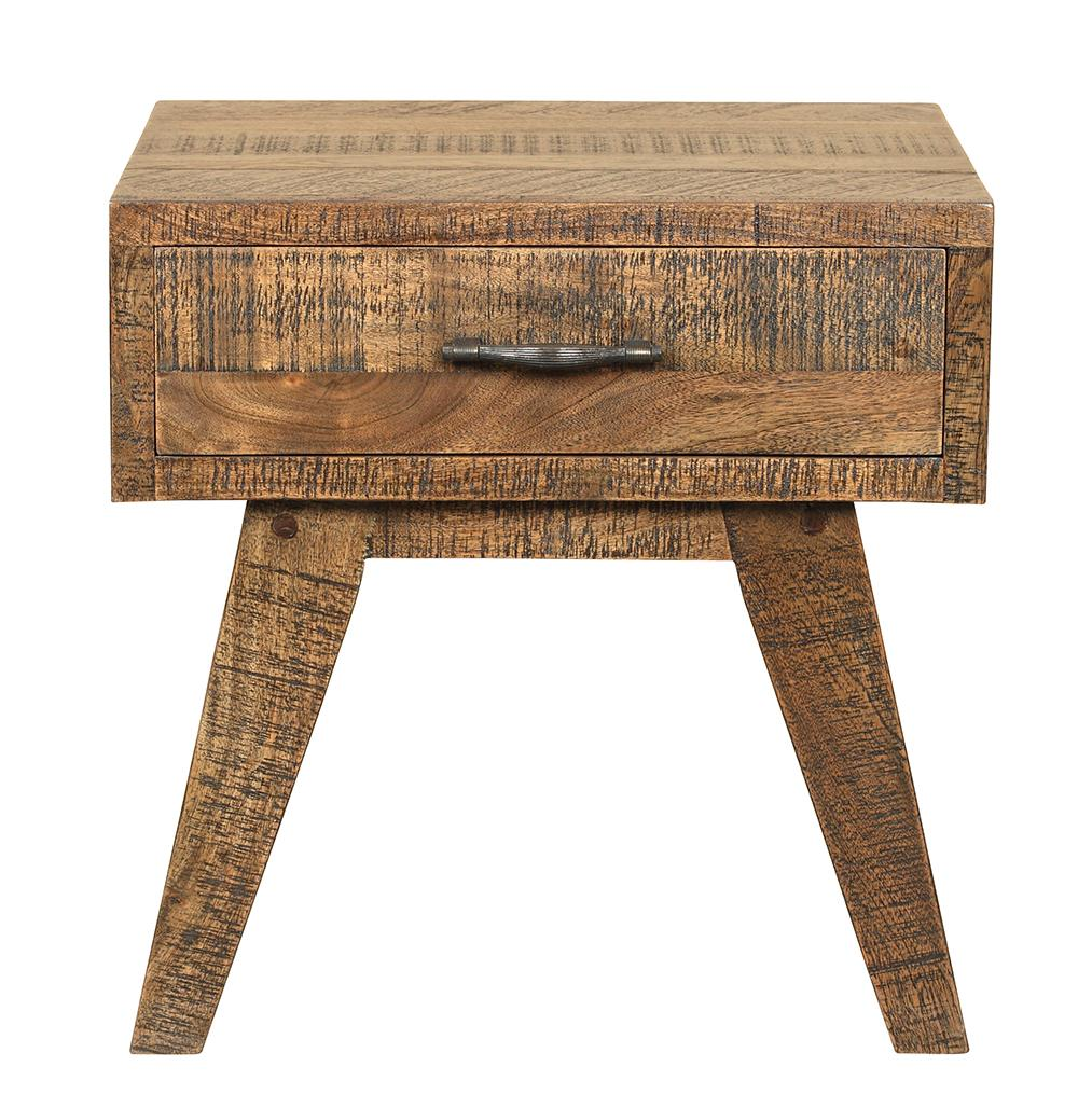 LOW RIDER NATURAL HARDWOOD HANDMADE BEDSIDE/SIDE TABLE Philbee Interiors