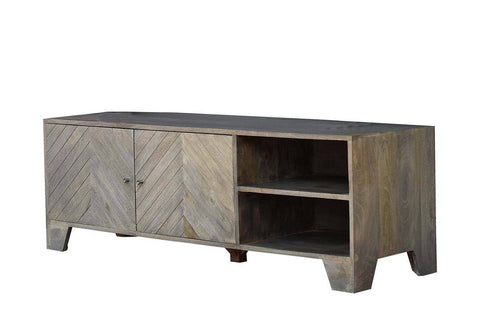 "INVERTED ""V"" HARDWOOD ENTERTAINMENT UNIT Philbee Interiors"
