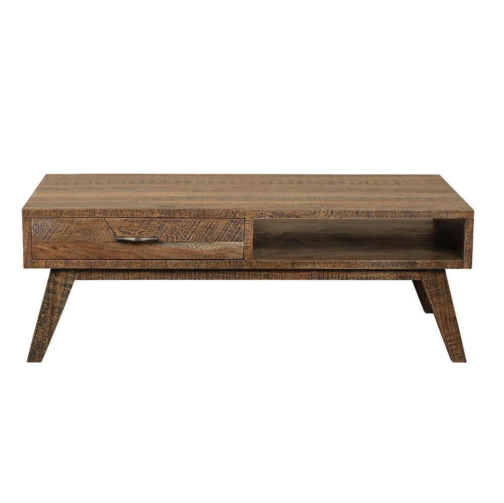 LOW RIDER NATURAL HARDWOOD HANDMADE COFFEE TABLE Philbee Interiors