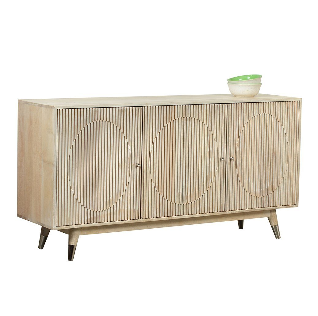 FLUTED ASH HARDWOOD HAND MADE SIDEBOARD Philbee Interiors