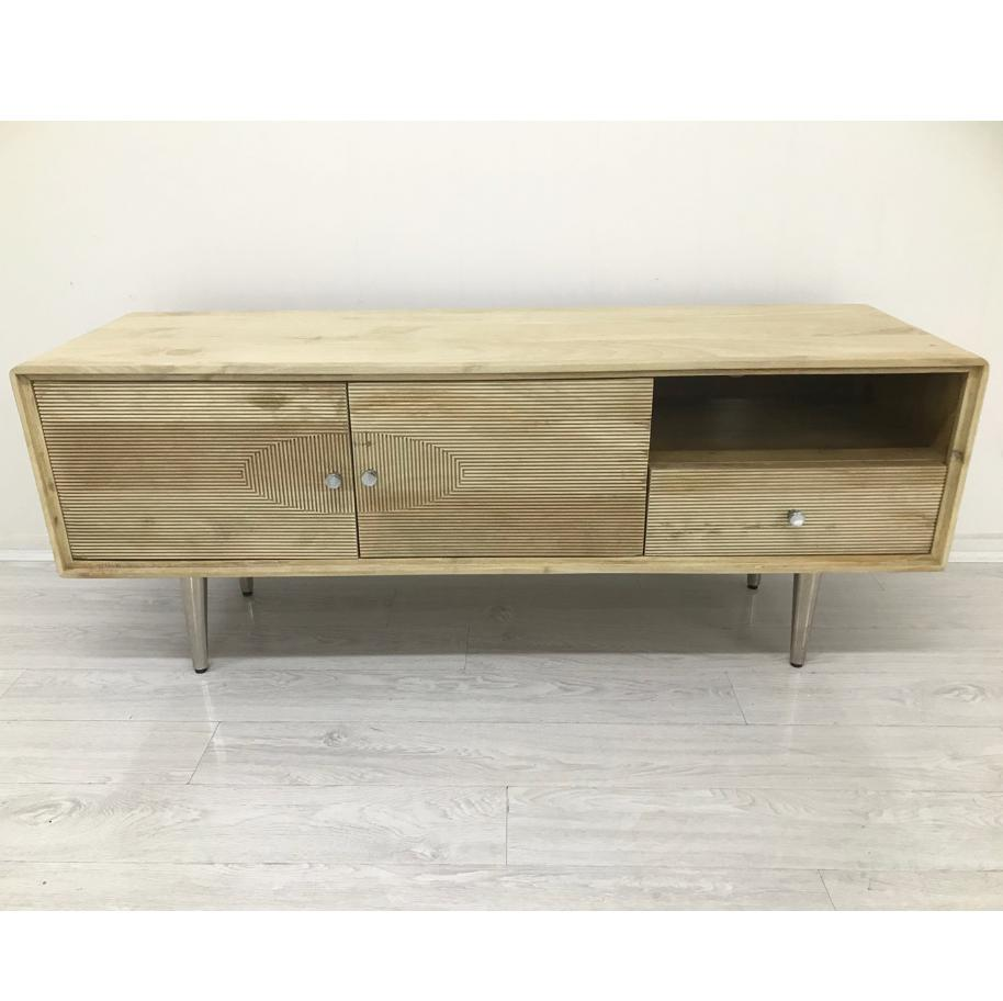 ELECTROWAVE 60s HAND CRAFTED HARDWOOD ENTERTAINMENT UNIT Philbee Interiors