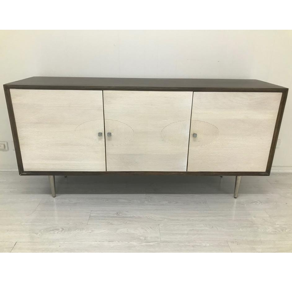 60s SLIDE HAND CRAFTED HARDWOOD RIDGED SIDEBOARD Philbee Interiors