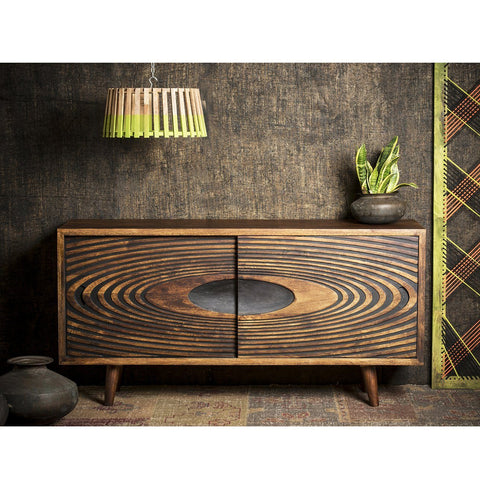 SOLAR HAND-CRAFTED HARDWOOD SIDEBOARD Philbee Interiors
