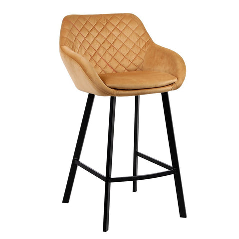 DIAMOND PEACH KITCHEN BENCH HEIGHT STOOL Philbee Interiors