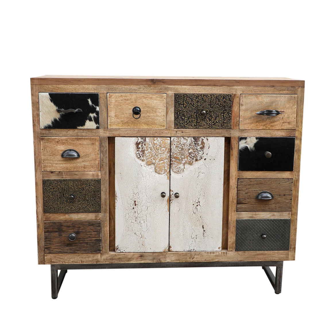 COWHIDE PATCHWORK CHEST OF DRAWERS Philbee Interiors