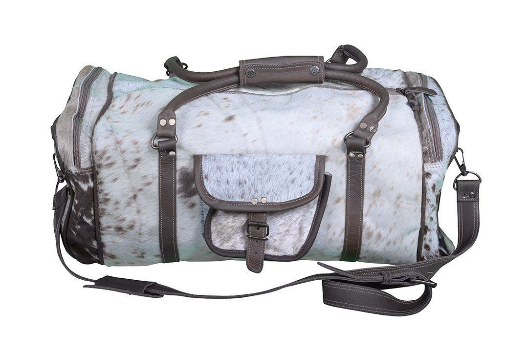 COWHIDE OVERNIGHT BAG Philbee Interiors