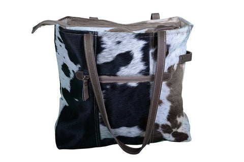 COWHIDE PATCH POCKET HANDBAG Philbee Interiors