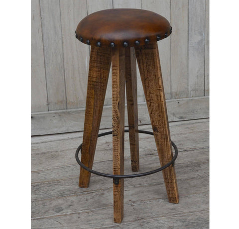 LEATHER MUSHROOM STOOL Philbee Interiors