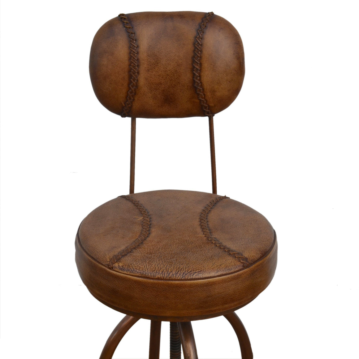 INDUSTRIAL BAR CHAIR WITH LEATHER Philbee Interiors
