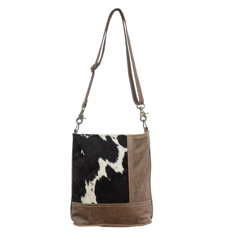 COWHIDE LEATHER CUT HANDBAG Philbee Interiors