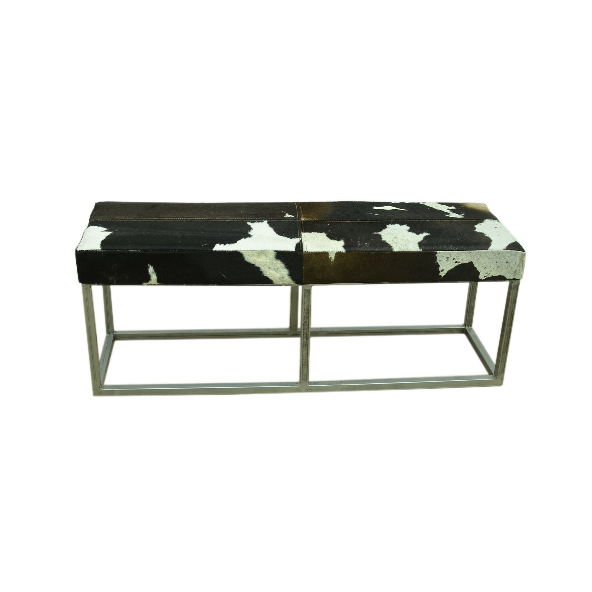 Cowhide Slide Bench Seat Philbee Interiors