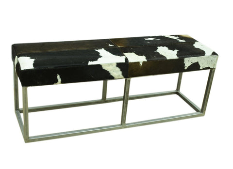 COWHIDE BENCH SEAT (DAISY LOVE SEAT) 30% DISCOUNT Philbee Interiors