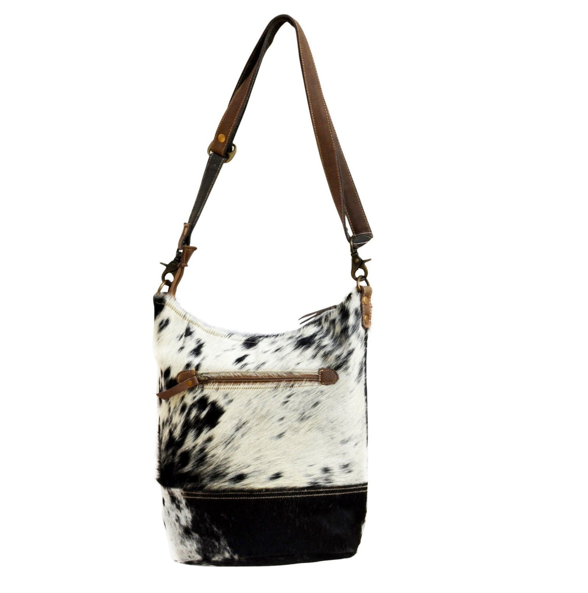 OVAL COWHIDE TOTE BAG Philbee Interiors