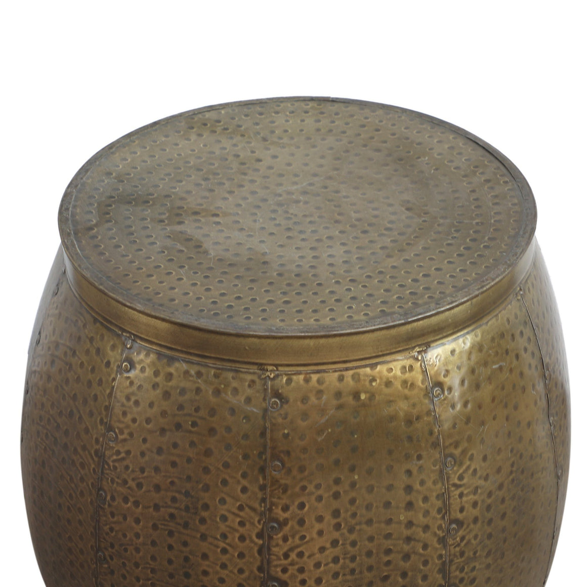 BRASS LOOK HAMMERED SIDE TABLE Philbee Interiors