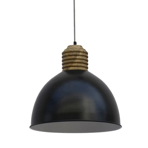 BLACK STEEL PENDANT LAMPSHADE Philbee Interiors