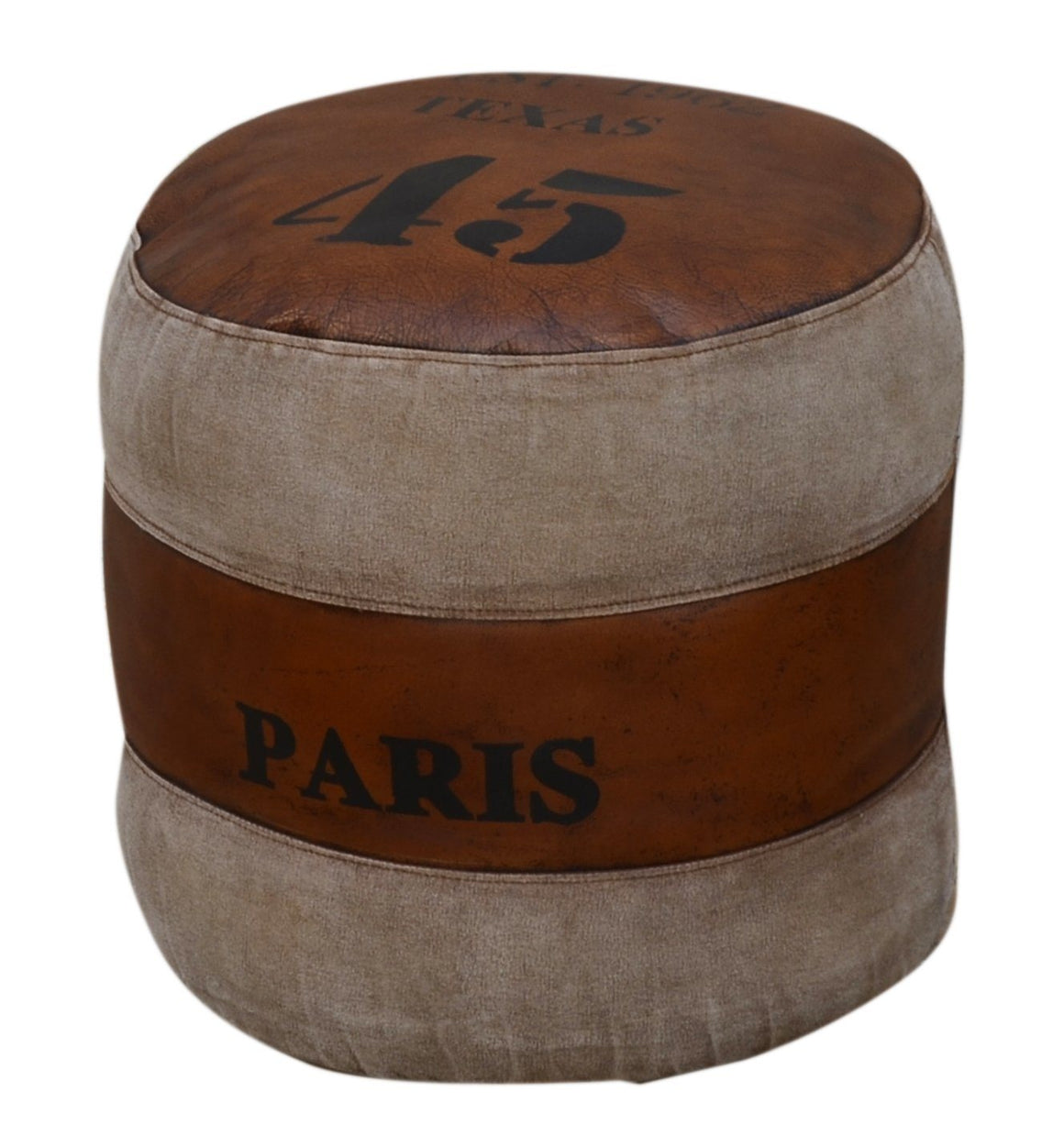 TEXAS PARIS 45 ROUND OTTOMAN Philbee Interiors