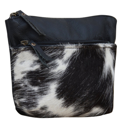 DARK COWHIDE POUCH CLUTCH BAG Philbee Interiors
