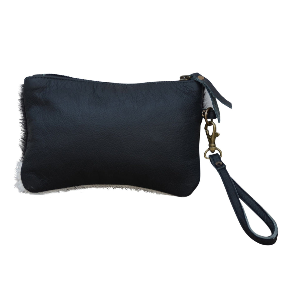 MINI EVERYDAY COWHIDE ZIP CLUTCH BAG Philbee Interiors
