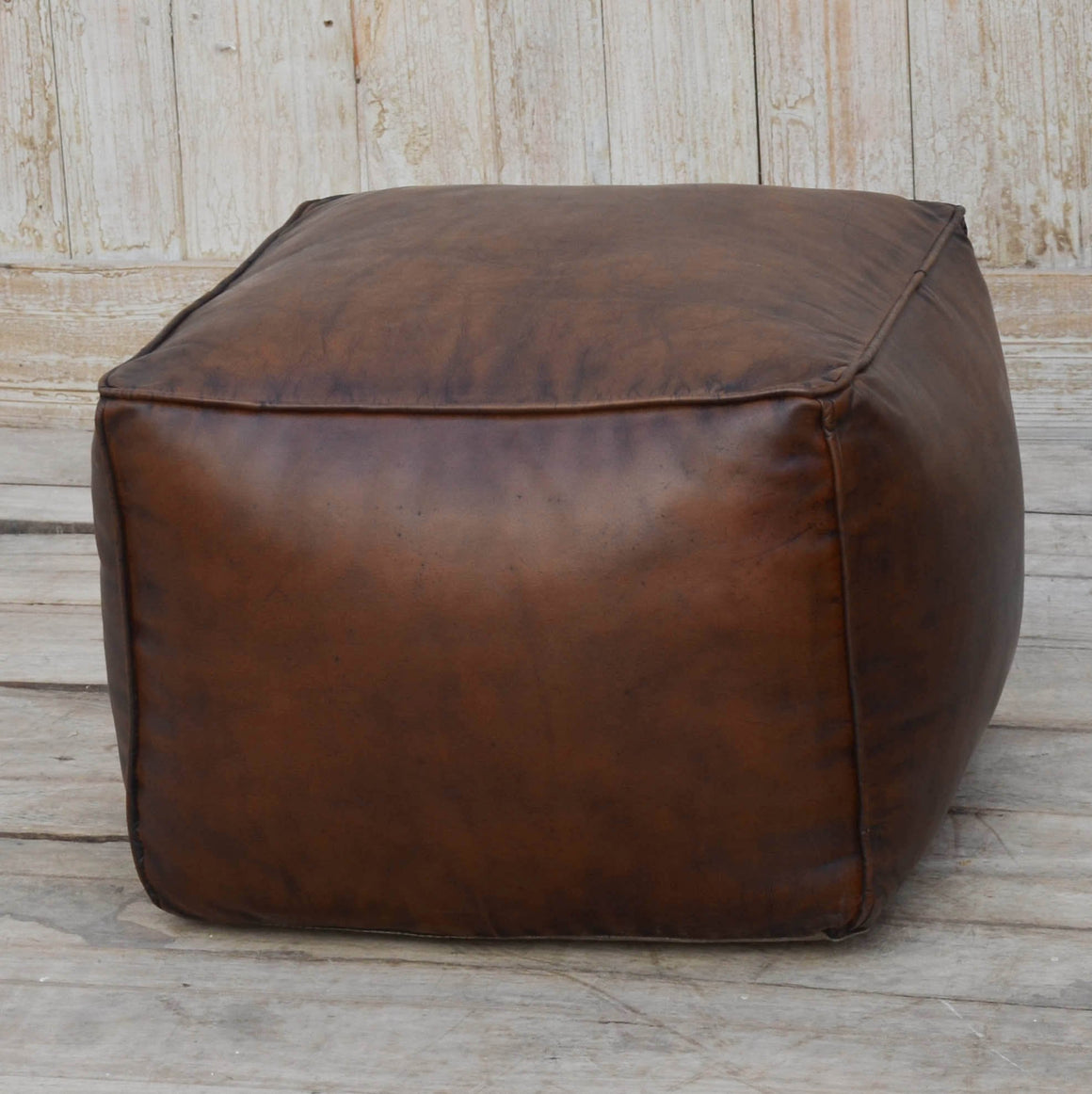SQUARE CHOCOLATE OTTOMAN Philbee Interiors
