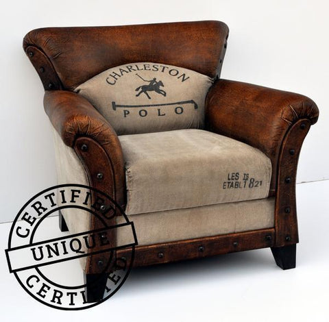 CHARLESTON POLO VINTAGE ARM CHAIR Philbee Interiors