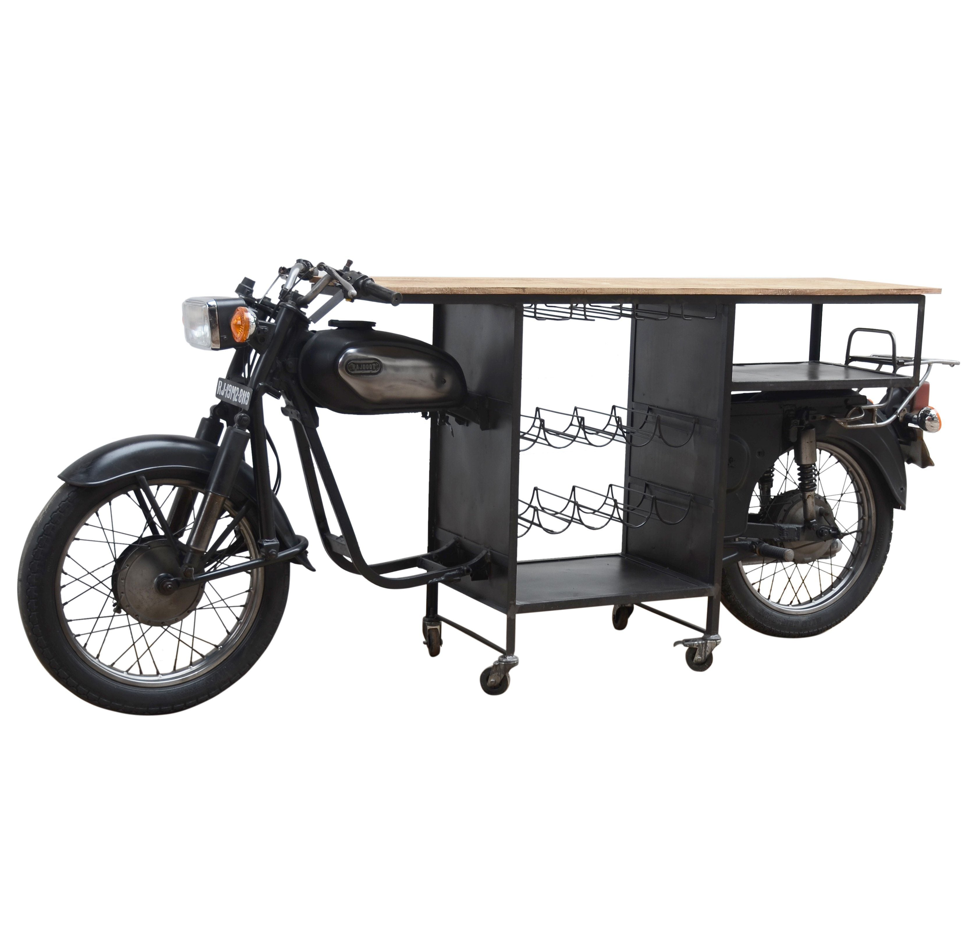 Excellent Old School Black Motorbike Bar Philbee Interiors Caraccident5 Cool Chair Designs And Ideas Caraccident5Info