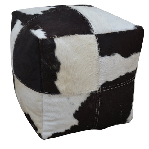 COWHIDE CUBE OTTOMAN Philbee Interiors