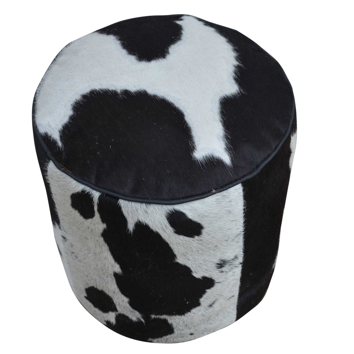 CYLINDRICAL COWHIDE OTTOMAN Philbee Interiors