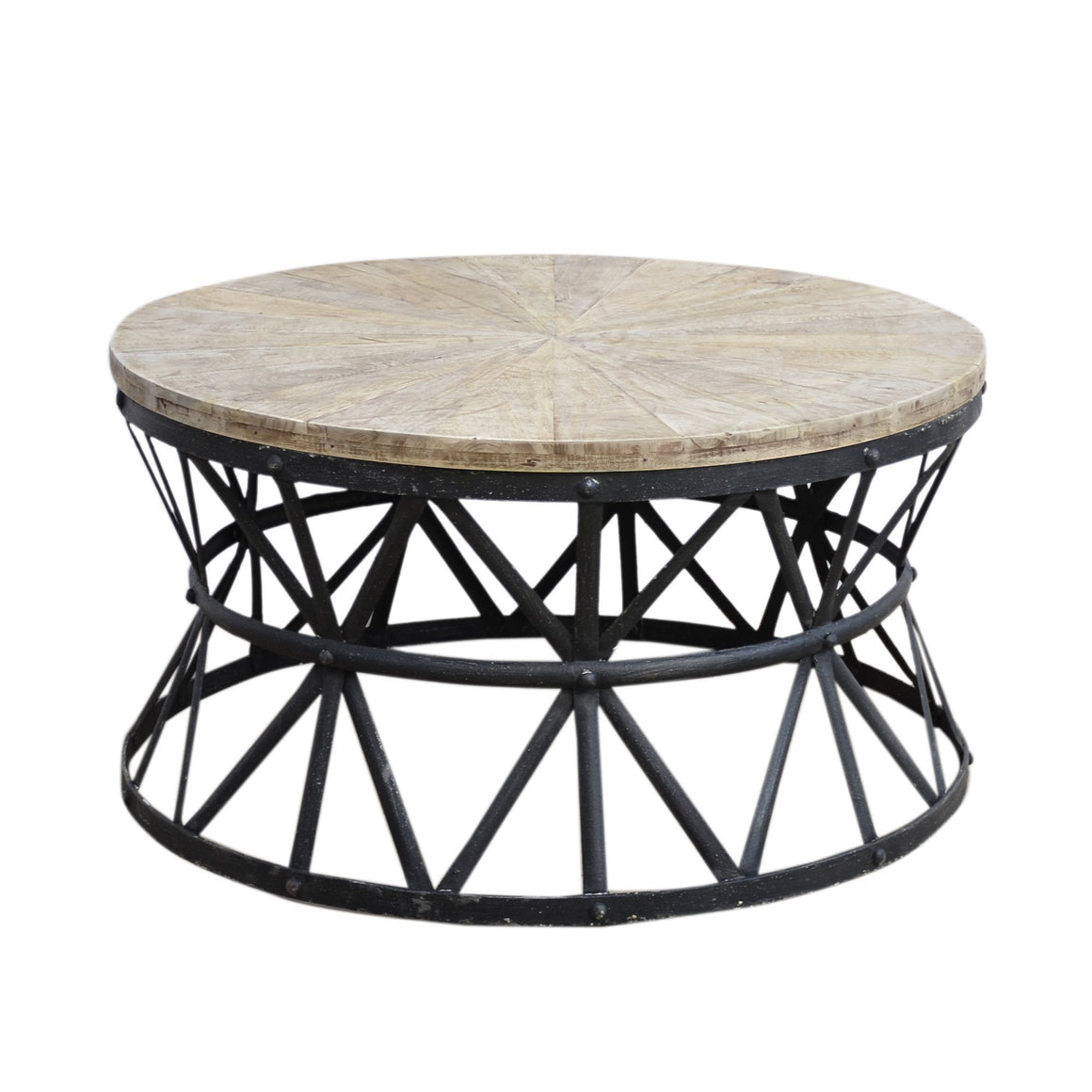 CAST IRON ROUND COFFEE TABLE HANDMADE Philbee Interiors