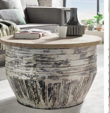 WHITE WASH COFFEE TABLE (THE PAMELA) Philbee Interiors