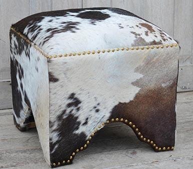 HAND MADE HAND CRAFTED COW OTTOMAN Philbee Interiors