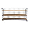 MOVABLE INDUSTRIAL BOOKSHELF (WIDE & LOW) Philbee Interiors