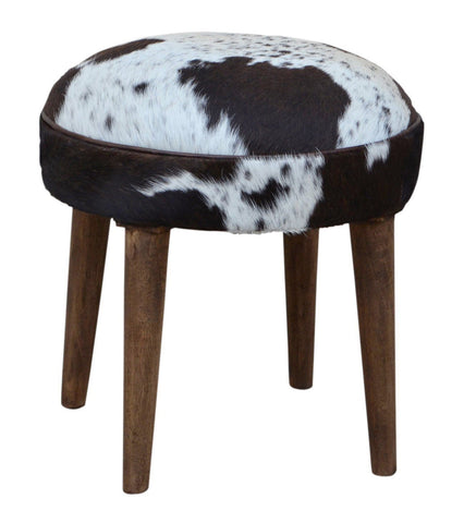 SHORT COWHIDE STOOL Philbee Interiors