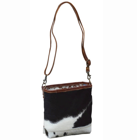 COWHIDE AND LEATHER HANDBAG Philbee Interiors