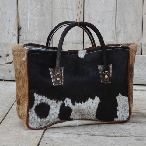 DOUBLE COWHIDE HANDLE IT BAG Philbee Interiors