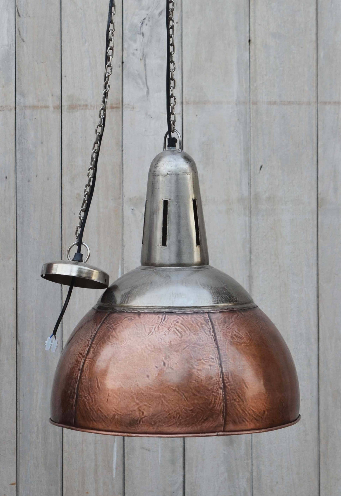 INDUSTRIAL COPPER LAMPSHADE Philbee Interiors