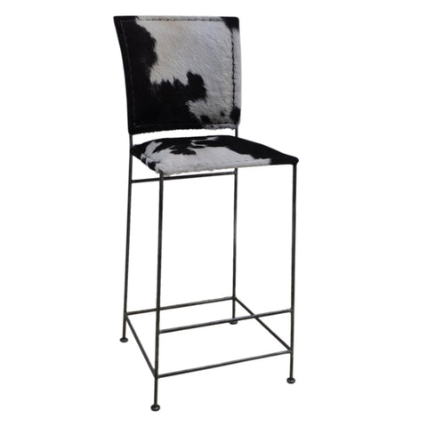 DARK COWHIDE BAR SEAT 30% DISCOUNT Philbee Interiors
